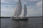 Huck under sail!