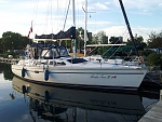 Mimico at our dock