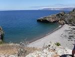 Looking southeast from Pelican Harbor, Santa Cruz Island.