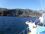 Heading east between Fry's Harbor and Platt's Harbor, north side of Santa Cruz Island.
