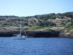 Heading west between Orizaba and Platt's harbors. North side of Santa Cruz Island.