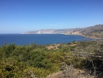 View looking east to Chinese Harbor on the trail to Prisoner's Harbor from Pelican.