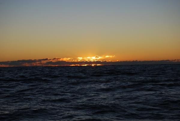 Sunrise off Stradbroke Island, QLD, 29-JUN-09.