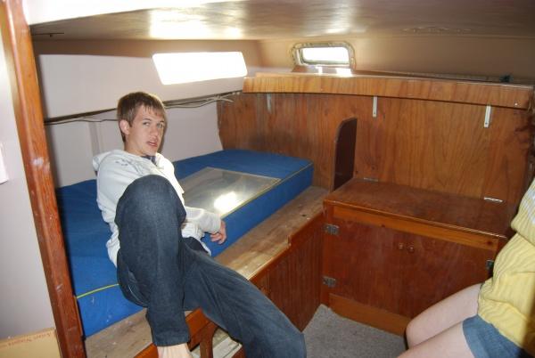 Aft cabin, starboard side bunk