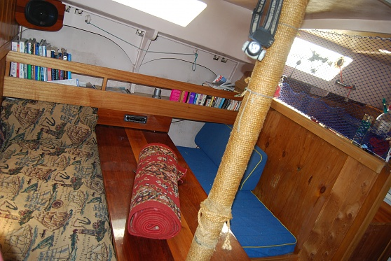 Saloon on starboard just forward of galley