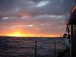 Dawn crossing of Wide Bay Bar