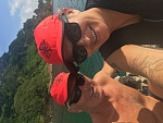 With oldest daughter Brandi in Fiji
