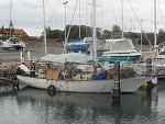 Shanaly in various stages of current refit