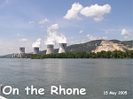 River Rhone Nuclear Power Station