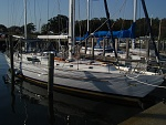 At the dock. Harbortown Marina in Muskegon
