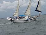 Under sail, early trip... Oldie but goodie...