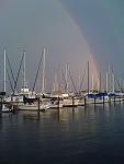 living under a rainbow.